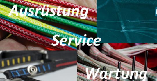 Von November bis Februar Check der kompletten Ausrüstung ( Schirm / Gurtzeug / Rettung packen )